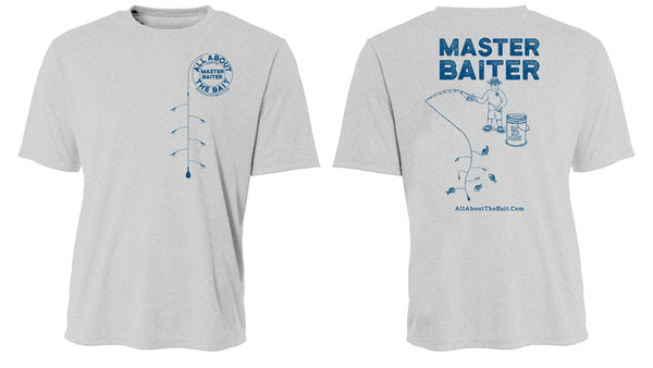MASTER BAITER - T-Shirt - Ash - Hanes Comfort Soft - 100% Cotton - FREE SHIPPING