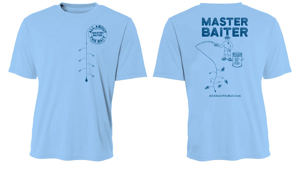 MASTER BAITER - T-Shirt - Light Blue - Hanes Comfort Soft - 100% Cotton - FREE SHIPPING