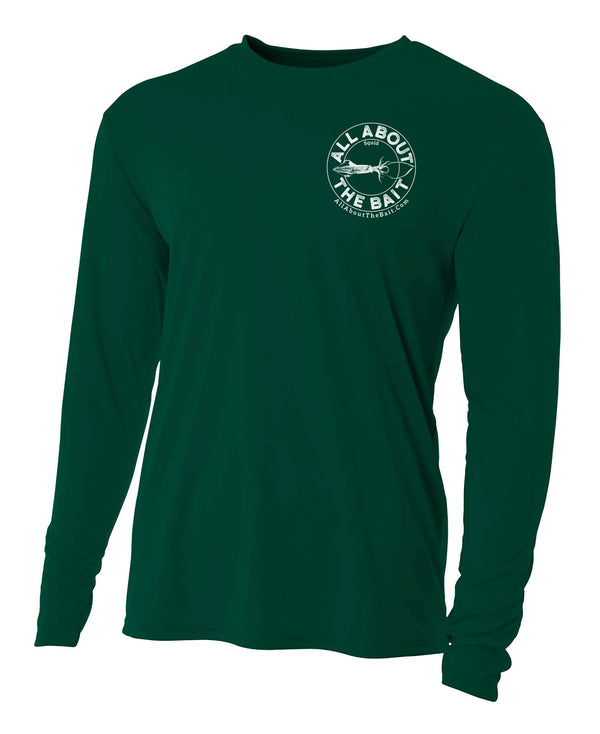 Squid - Forest Green - 100% Micro Fiber Polyester Performance Long Sleeve Shirt (FREE SHIPPING)