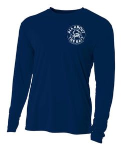 Blue Crab - Navy Blue - 100% Micro Fiber Polyester Performance Long Sleeve Shirt (FREE SHIPPING)
