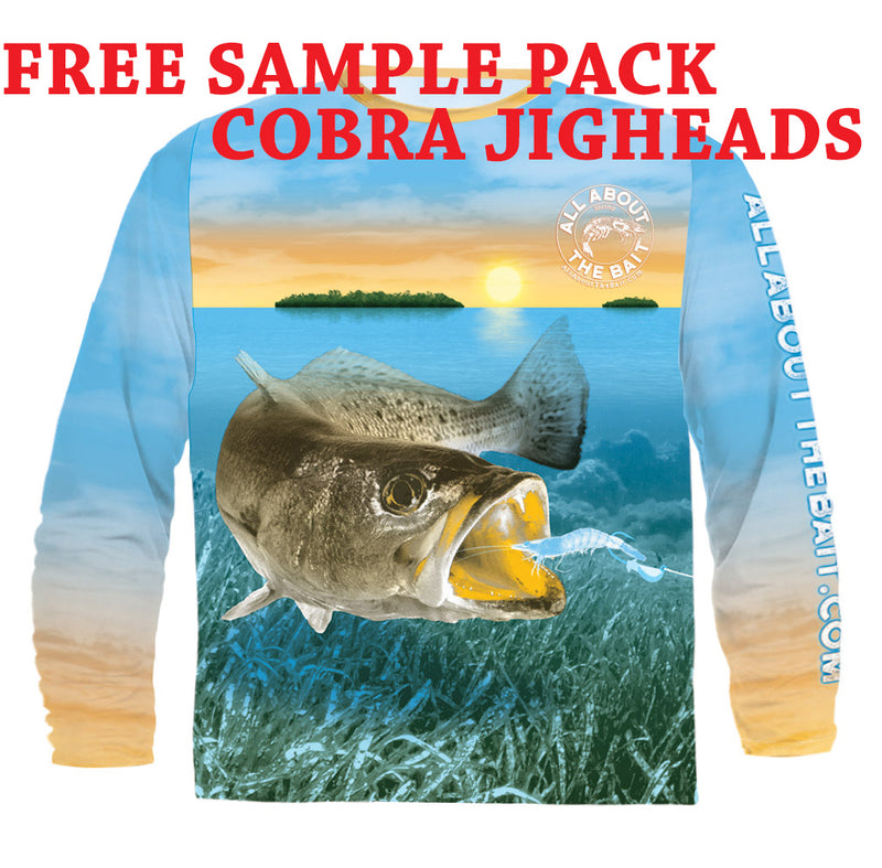 (FREE COBRA JIGHEAD PACK) SPECKLED TROUT - COOLMAX - 100% Micro Fiber Polyester Performance Long Sleeve Shirt (FREE SHIPPING)