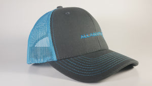 (3 Colors) BLUE CRAB - KC Caps KC8400 Adult Pro Style Trucker Cap with Neon Mesh - (FREE DELIVERY)
