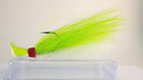 Sample Pack (2 each color) - 1/2 oz Bucktail Jig - Cobra Jighead 2X Strong Mustad Hook (White, Pink, Chartreuse)