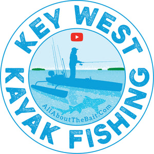 "Key West Kayak Fishing 5"" Round Sticker"