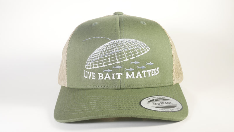 (3 Colors) LIVE BAIT MATTERS Sport-Tek ® Yupoong ® Retro Trucker Cap (STC39) - 7 Snap Back (FREE DELIVERY)