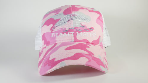 (3 Colors) LIVE BAIT MATTERS - KC Caps KC7040 Fashion Camo Mesh Trucker Cap (FREE DELIVERY)