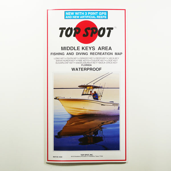 N208 - MIDDLE KEYS - Top Spot Fishing Maps - FREE SHIPPING