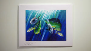 (Two Sizes) Ray Rolston Canvas Print - Offshore Fish - FREE SHIPPING