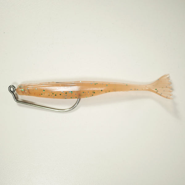 "4/0 2X HD RIGGING KIT (Qty 5) SHMINNOW (Shrimp/Minnow) 4"" Soft Plastic Shrimp/Fluke (Qty 20) - ORIGINAL"