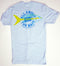 Chum/Yellowtail Snapper Short Sleeve T-shirt - Light Blue Color - 100% Combed Ringed-Spun Fine Jersey Cotton (FREE SHIPPING)