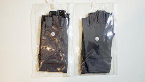 Large Fishing Gloves / Sun Gloves - Light Weight - Dark Gray w/ Light Rubberized Palm - FREE SHIPPING
