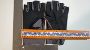 Medium Fishing Gloves / Sun Gloves - Light Weight - Dark Gray w/ Light Rubberized Palm - FREE SHIPPING