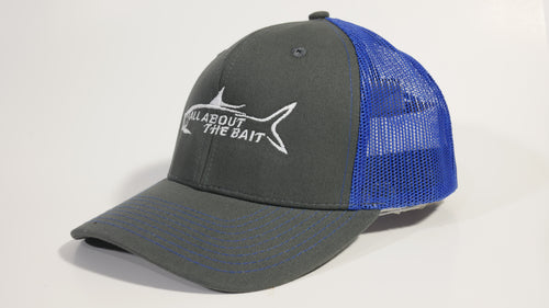(2 Colors) ALL ABOUT THE BAIT TARPON - KC Caps KC8400 Adult Pro Style Trucker Cap with Neon Mesh - (FREE DELIVERY)