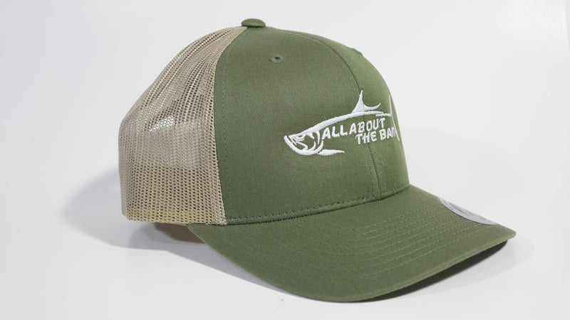 (4 Colors) ALL ABOUT THE BAIT TARPON - Sport-Tek ® Yupoong ® Retro Trucker Cap (STC39) - 7 Snap Back (FREE DELIVERY)