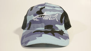 (2 Colors) ALL ABOUT THE BAIT TARPON - KC Caps KC7040 Fashion Camo Mesh Trucker Cap (FREE DELIVERY)