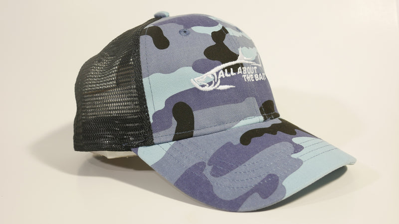 (3 Colors) ALL ABOUT THE BAIT TARPON - KC Caps KC7040 Fashion Camo Mesh Trucker Cap (FREE DELIVERY)