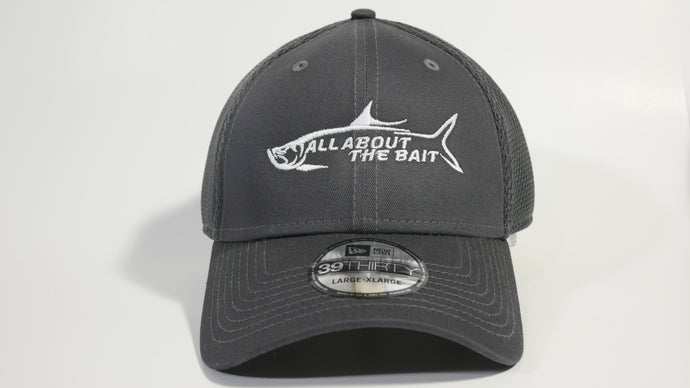 (1 Colors) ALL ABOUT THE BAIT TARPON - MEDIUM/LARGE New Era® Stretch Mesh Cap (NE1020) - (FREE DELIVERY)