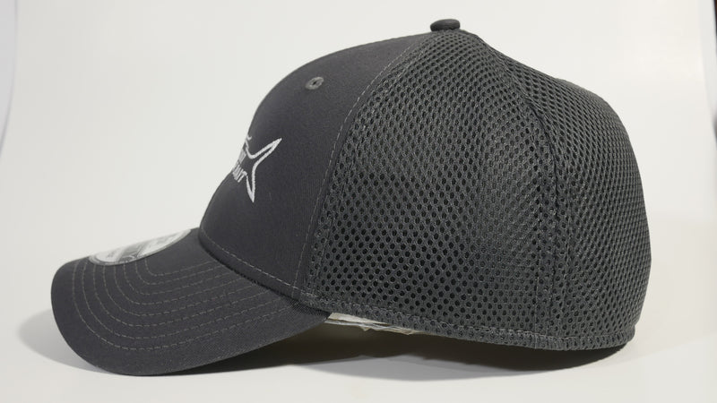 (2 Color) ALL ABOUT THE BAIT TARPON - LARGE/X-LARGE New Era® Stretch Mesh Cap (NE1020) - (FREE DELIVERY)