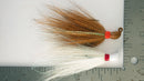 Essential Pack (White & Brown) - 1/4 oz Bucktail Jig - Cobra Jighead 2X Strong Mustad Hook