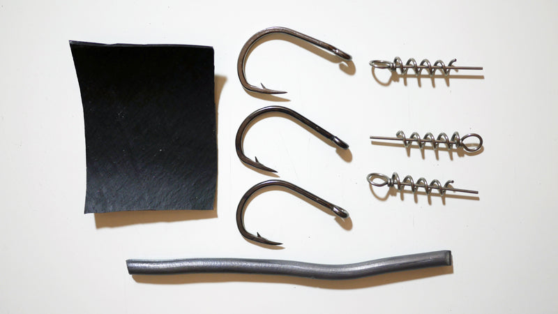 "(COMBO) 9"" Paddletail Rigging Kit +9"" Paddletail WHITE.  3, 5, or 10 pack.  FREE SHIPPING"