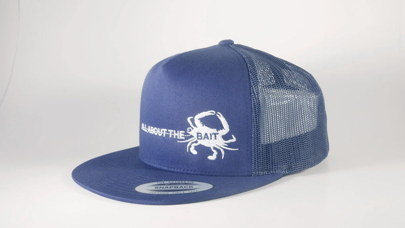 (2 Colors) BLUE CRAB - New Era® Original Fit Snapback Trucker Cap (NE403) - 7 Snap Back (FREE DELIVERY)