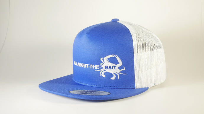 (4 Colors) BLUE CRAB - Sport-Tek ® Yupoong ® 5-Panel Classic Trucker Mesh Back Cap (STC38) - 7 Snap Back (FREE DELIVERY)