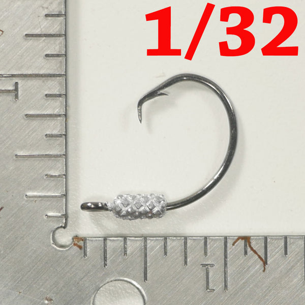 1/32 oz. - 4/0 Weighted Circle Hook Jig - FREE SHIPPING