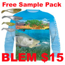 $15 (BLEM) Snook Shirt (Medium Only) (+ FREE JIGHEAD & PADDLETAIL SAMPLE PACK)- FREE SHIPPING