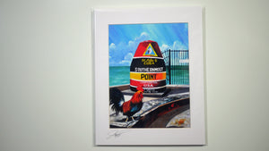 Ray Rolston Canvas Print - Southernmost Point - FREE SHIPPING