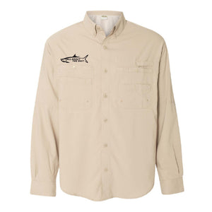 SAND - Button Up Long Sleeve Guide Shirts - UPF 40 - AATB Embroidery Logo - FREE SHIPPING