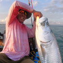 (+ FREE TARPON FACE MASK) - TARPON SUNSET - COOLMAX - 100% Micro Fiber Polyester Performance Long Sleeve Shirt (FREE SHIPPING)