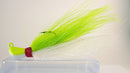 Sample Pack (2 each color) - 3/4 oz Bucktail Jig - Cobra Jighead 2X Strong Mustad Hook (White, Pink, Chartreuse)