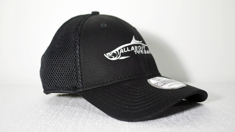 (2 Colors) ALL ABOUT THE BAIT TARPON - MEDIUM/LARGE New Era® Stretch Mesh Cap (NE1020) - (FREE DELIVERY)