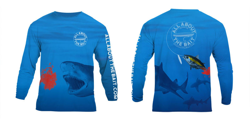 (BLEM) - 2XL - Bloody Tuna - COOLMAX - 100% Micro Fiber Polyester Performance Long Sleeve Shirt (FREE SHIPPING)