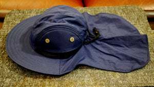 Fishing Boonie Hat With Neck Flap -   Navy Blue - One Size Fits Most - Free Shipping