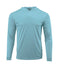 (NO LOGO) PLAIN HOODED - BLUE MIST - 50+ UPF - Long Sleeve Performance Shirt - 100% Polyester - FREE DELIVERY