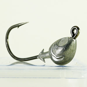 AATB Custom FISH HEAD Jigheads - 1/2 oz - 4/0 Mustad 2X Heavy Duty Hook - 5, 10, or 25 pack.  FREE SHIPPING.