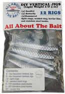 DIY Bare Vertical Jigs (qty 12) - Light Weight - 3 Styles - 2 & 4 oz - 2 Each