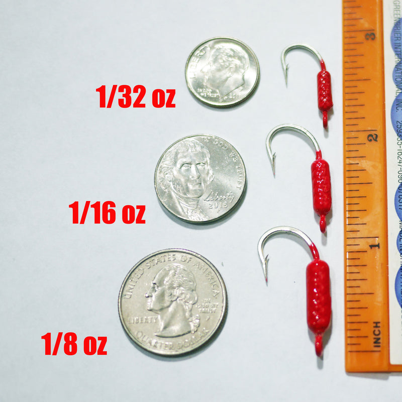 RED - 50 CT. - Yellowtail Snapper Drift Jig - FREE SHIPPING