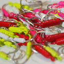 MIXED COLOR - 75 ct. (5 of each size/color) - Yellowtail Snapper Drift Jig - FREE SHIPPING
