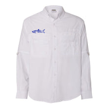 WHITE - Button Up Long Sleeve Guide Shirts - UPF 40 - AATB Embroidery Logo - FREE SHIPPING