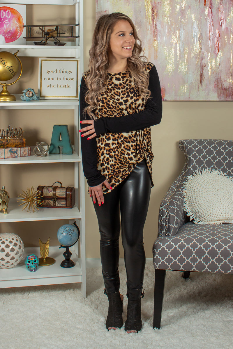 Animal Print Shirt, Womens Leopard Print Top