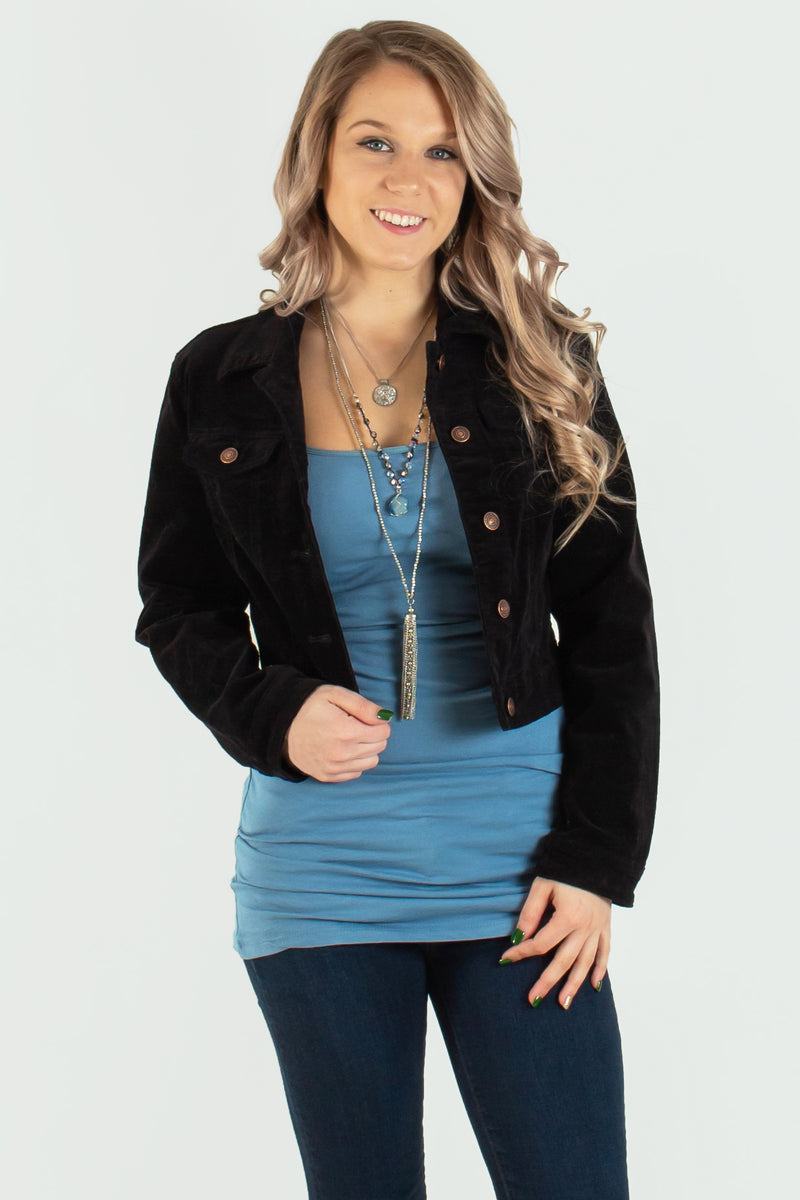 womens black jacket. womens corduroy jacket