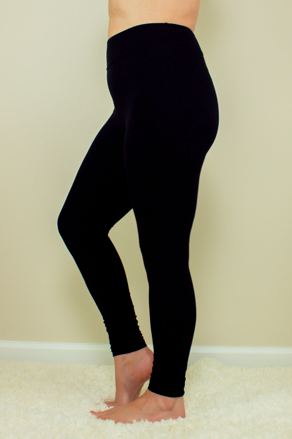 Let's Stay Home High Waisted Leggings (Black)