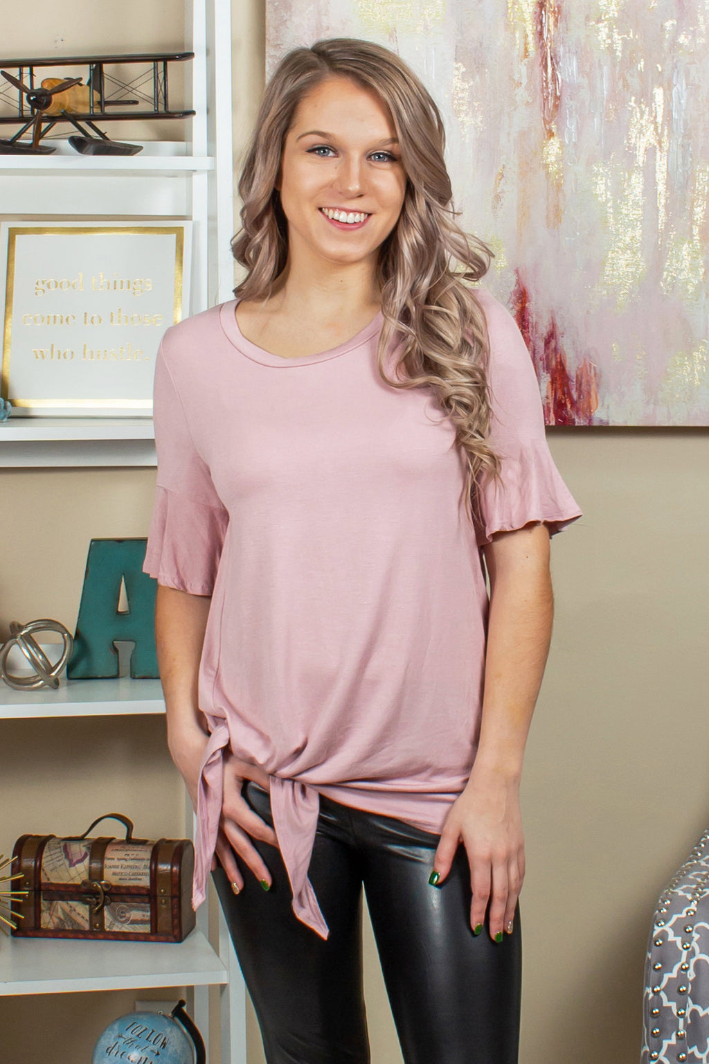 pink top, light pink top, pink blouse