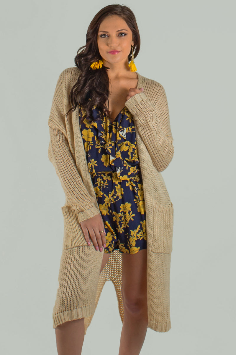 trendy tan cardigan, trendy beige cardigan