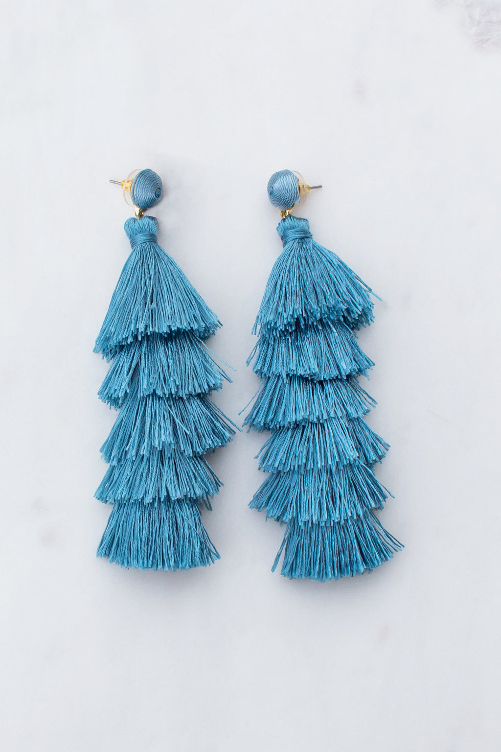 Get To Me Tassel Earrings (Teal)