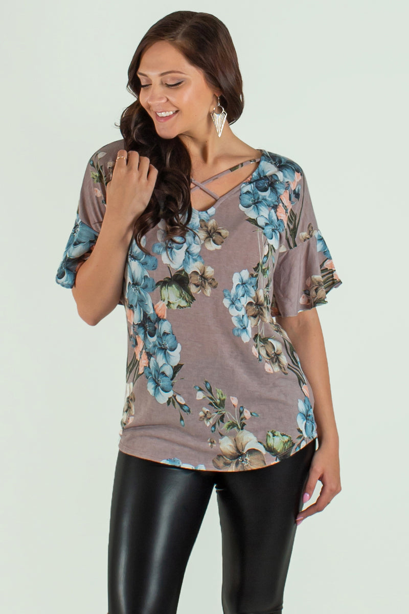 Floral top, Floral blouse, Boutique top