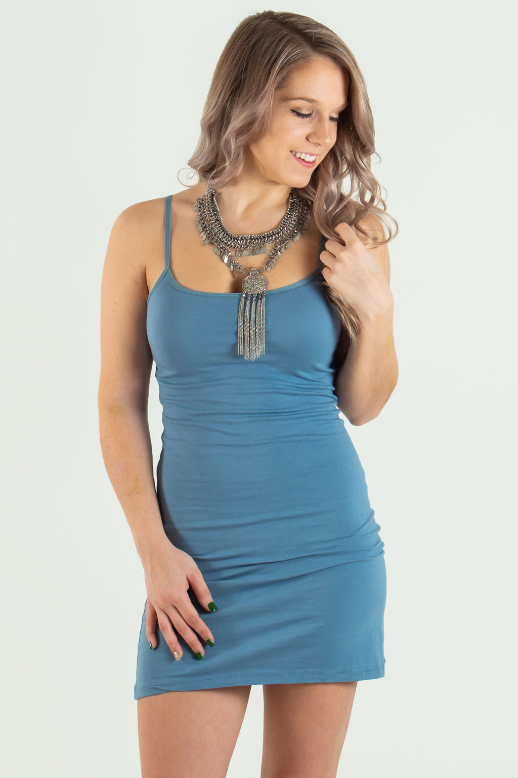 Basic bodycon, Basic blue bodycon, basic tank top