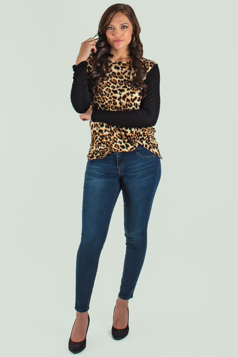 Cute Animal Print Blouse